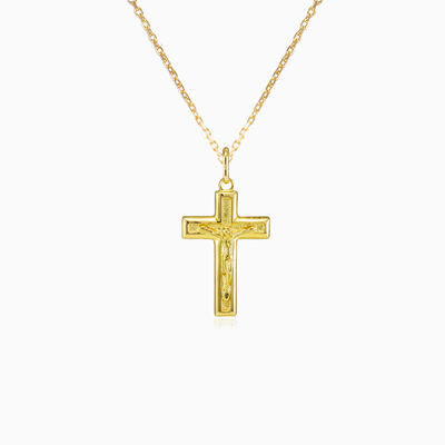 Yellow gold cross pendant unisex Pendants Santa Croce