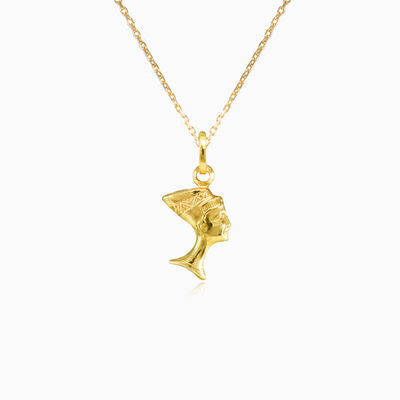 Gold nefertiti pendant unisex Pendants Simbólico