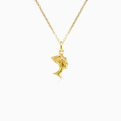 Tiny gold Nefertiti pendant unisex Pendants Simbólico