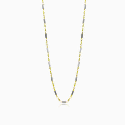 Link bar gold chain unisex Chains