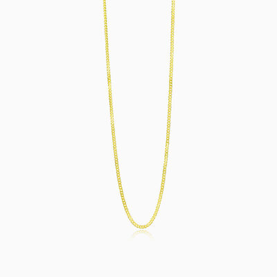 Thin curb gold chain unisex Chains