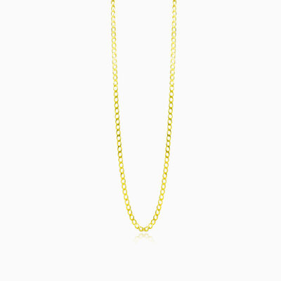 Medium gold curb chain unisex Chains