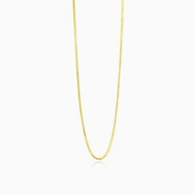Thin box gold chain unisex Chains