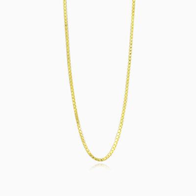 Gold box chain unisex Chains Harmony