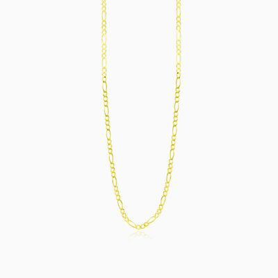 Figaro gold chain unisex Chains Harmony