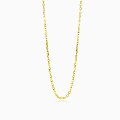 Solid gold cable chain unisex Chains Harmony