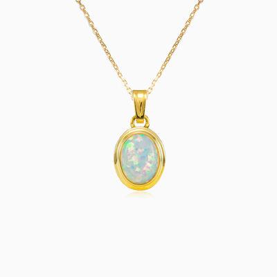 Classic white opal pendant woman Pendants Tinge