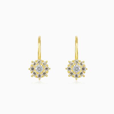 Drop crystal gold earrings woman Earrings Lustrous