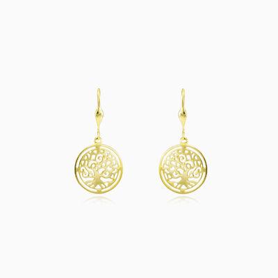 Tree of life gold earrings unisex Earrings Tree of life