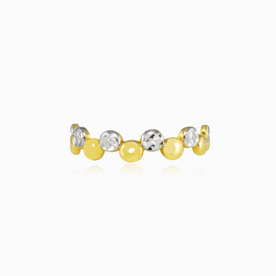 Yellow and white gold bubble ring woman Wedding rings