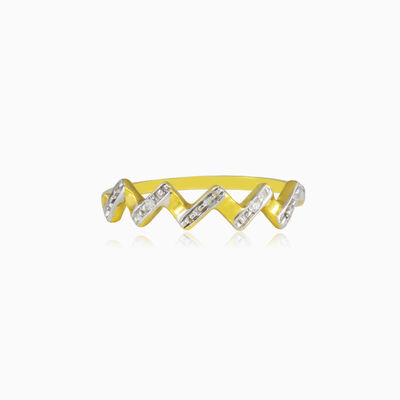 Zig Zag gold ring woman Rings Lustrous
