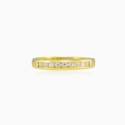 Chanel crystal line gold ring unisex Обручальные кольца Lustrous
