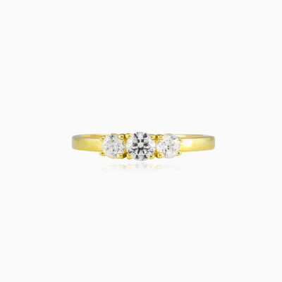 Classic trilogy gold ring woman Engagement rings