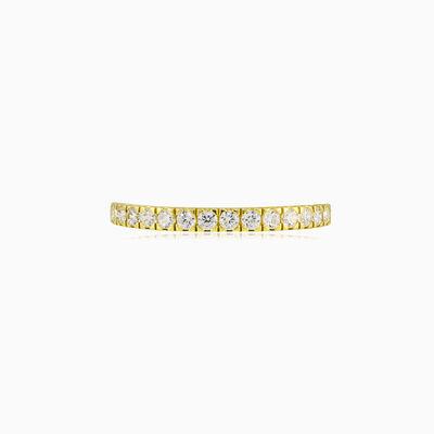 Thin crystal gold band woman Wedding rings