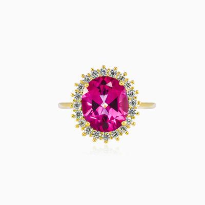 Royal oval rose Quartz gold ring woman Rings Royal