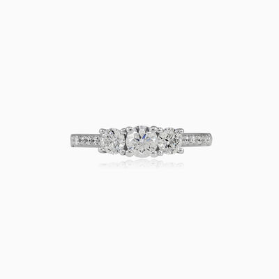 Trilogy accent diamond engagement ring woman Engagement rings