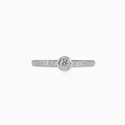 Bezel accent diamond engagement ring woman Engagement rings