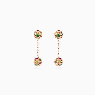 Mosaico chain dangling earrings woman Earrings Mosaico