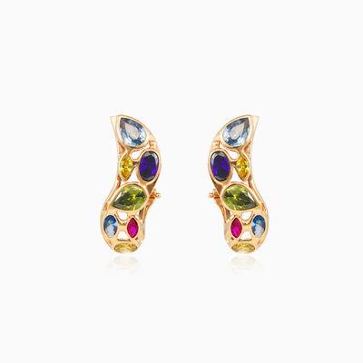 Mosaico snake gold earrings woman Earrings Mosaico