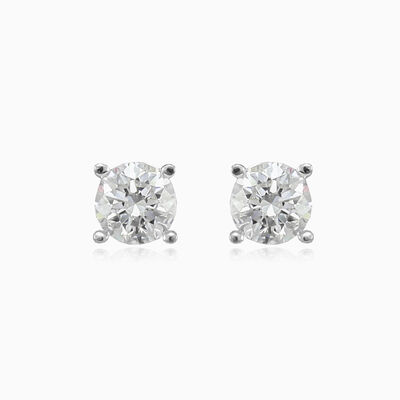 Classic four-prong solitaire earrings unisex Earrings Lustrous