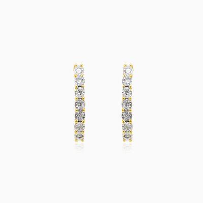One line diamond earrings woman Earrings Lustrous