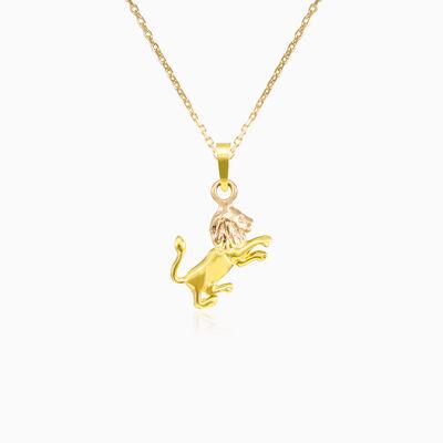 Gold Leo Zodiac sign pendant unisex Pendants Zodiac signs