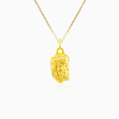 Yellow gold Jesus pendant unisex Pendants Santa Croce