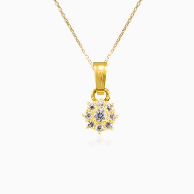 Crystal gold pendant woman Pendants Lustrous
