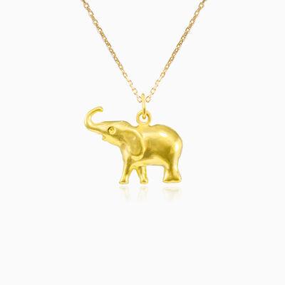 Elephant gold pendant unisex Pendants Animale