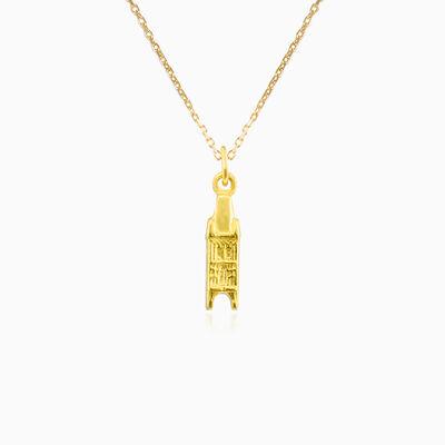 The Powder Tower gold pendant unisex Pendants Lustrous