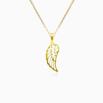Gold wing pendant unisex Pendants Simbólico