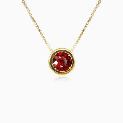 Bezel garnet gold necklace woman Necklaces Tinge