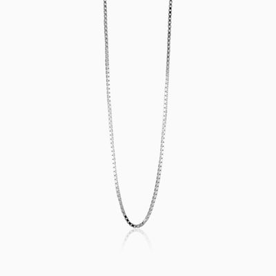 Silver box link chain unisex chains MC Silver