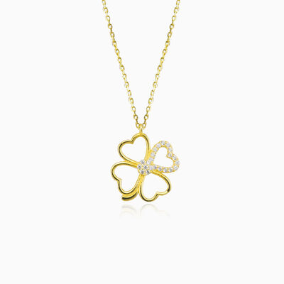 Clover heart necklace woman Necklaces Lovely