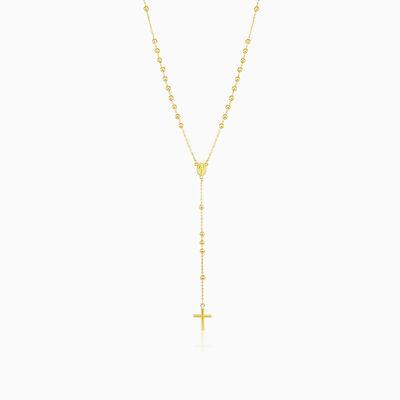 Classic gold rosary unisex Necklaces Santa Croce