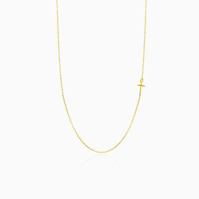 Minimalistic gold cross necklace woman Necklaces Tinge