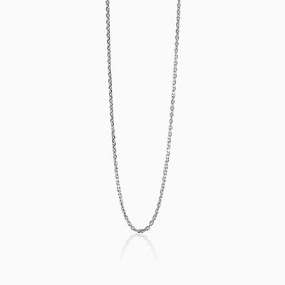 Silver cable chain unisex chains