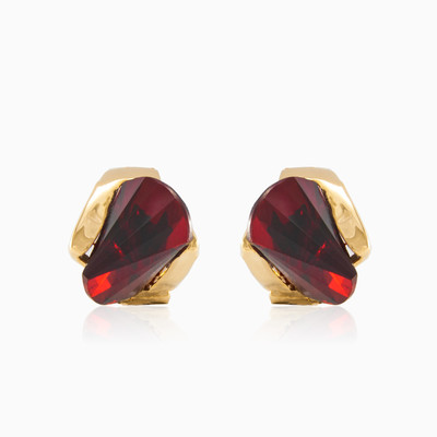 Pyramid garnet earrings woman earrings MC Gold