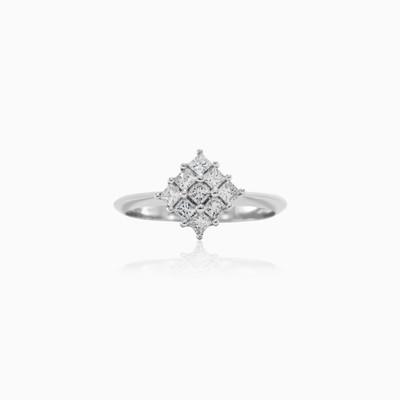 Square Diamond Ring woman Engagement rings Lustrous
