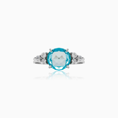 Blue Topaz engagement ring woman engagement rings MC Gold