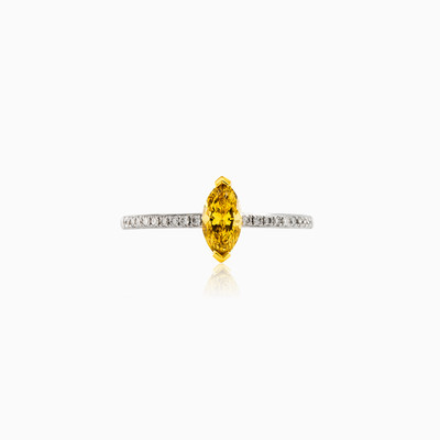 Marquise-cut Yellow Diamond engagement ring woman engagement rings