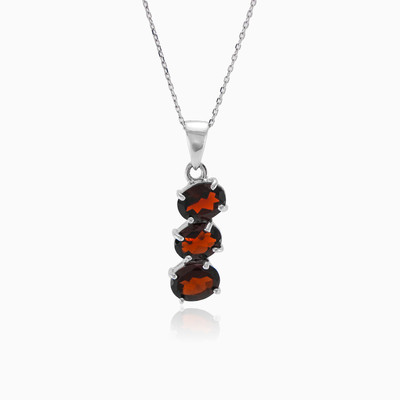 Three Garnet pendant woman pendants MC Silver