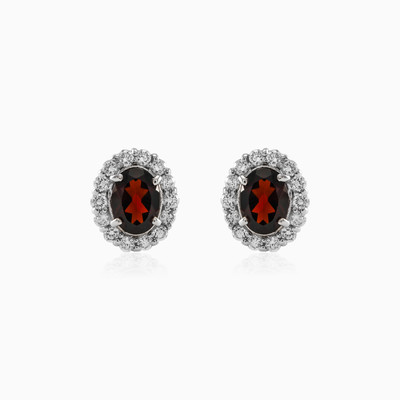Ellisse Garnet earrings woman earrings MC Silver