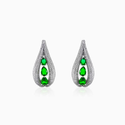 Silver earrings with Green Quartz woman earrings MC Silver