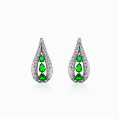 Silver earrings with Green Quartz woman Earrings Colorino