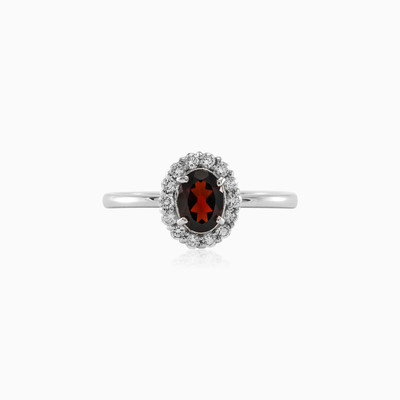 Ellisse Silver ring with Garnet woman rings MC Silver