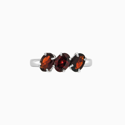 Silver ring with three garnets woman rings MC Silver