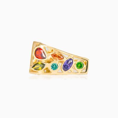 Mosaico asymmetric ring woman Rings Mosaico