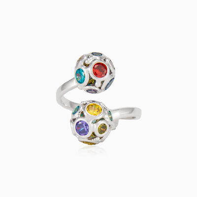 Mosaico beads open ring woman rings Mosaico