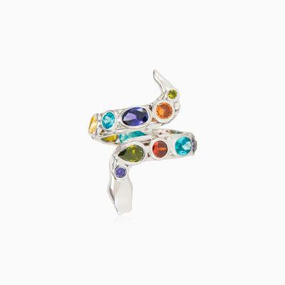 Mosaico white snake ring woman Rings Mosaico